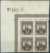 Danmark - AFA 114 postfrisk 4-blok 1920