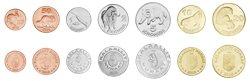 Groenland - Monnaies d'essai - animaux arctiques - Série de 7 monnaies