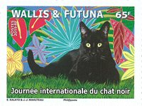 Wallis & Futuna - Chat noir - Timbre neuf