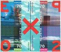 Schweiz - EXPO 2002 - Postfrisk sæt 4v