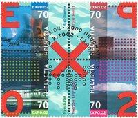 Suisse - Expo 2002 - Série obl. 4v