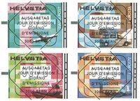 Schweiz - Automatmærker - Stemplet sæt 4v