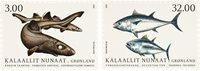 Grønland - Fisk - Postfrisk sæt 2v