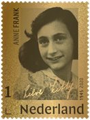 Netherlands - The Diary of Anne Frank gold stamp 24 carat - Mint stamp in box