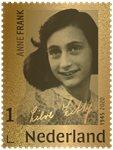Holland - Anne Franks dagbog ægte 24 karat guld - Frimærke indkapslet i blister og leveret i æske