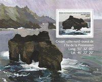 Antarctique Francaise - Le rocher perforé - Bloc-feuillet neuf