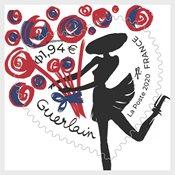 France - Guerlain fleurs - Timbre neuf adhésif