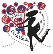 France - Guerlain fleurs - Timbre neuf