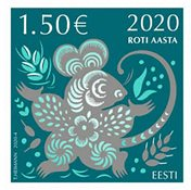 Estonia - Year of the Rat - Mint stamp