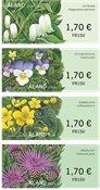 Åland - Fleurs sauvages - Série neuve d'étiquettes d'affranchissement