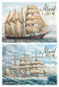 Åland - Sejlskibe Mozart & Viking - Postfrisk sæt 2v