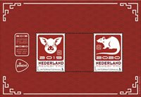 Netherlands - Year of the Pig becomes Year of the Rat - Mint souvenir sheet