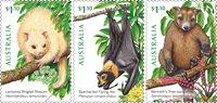Australie - Animaux dans les arbres - Série neuve 3v