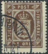 Danmark 1921-23 - AFA 18 tjeneste - Stemplet