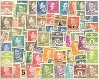 Danmark - Pakke med 65 forsk. postfriske frimærker