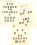 Danish Antilles - Collection 1872-1905 cancelled and unused