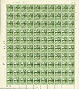 Danmark - AFA 25 postfærge postfrisk helark
