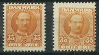 Danmark - AFA 63+63a ubrugt