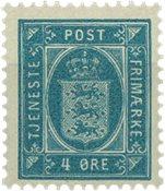 Danemark 1899-1902 - AFA 5c service - Neuf sans ch.