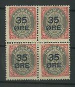Danmark - AFA 61z perlefejl 1912