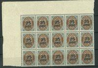 Danmark - AFA 60 postfrisk blok med 15 frimærker