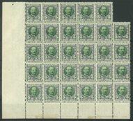 Danmark - AFA 54 postfrisk i blok med 29 frimærker