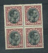 Danmark - AFA 106 postfrisk 4-blok