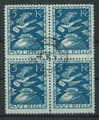Sverige - AFA 188 stemplet 4-blok