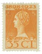 Nederland - 35 ct bruingeel uit jubileumserie 1923(nr. 127, postfris)