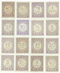 Surinam 1913-1931 - NVPH P17/32 - Neuf avec charnière