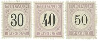 Surinam 1886-1888 - NVPH P6/8 - Neuf avec charnière