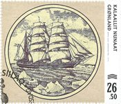 Old Greenlandic Banknotes IV - First day cancellation - Stamp