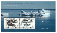 Fish in Greenland III - Central date cancellation - Souvenir sheet