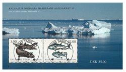 Fisk i Grønland III - Centralt dagstemplet - Miniark