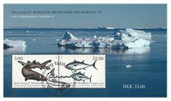 Fisk i Grønland III - Førstedagsstemplet - Miniark