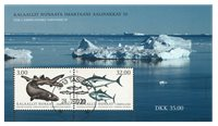 Fish in Greenland III - Date cancellation - Souvenir sheet
