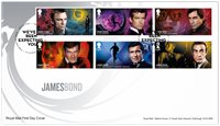 Great Britain - James Bond - First Day Cover with set