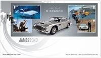 Engeland - James Bond - FDC met souvenirvelletje
