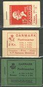 Danemark - 2 kr. carnets de timbres neufs, AFA 2+14+16