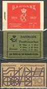 Danmark - 2 kr. frimærkehæfter AFA 6+10+S1 postfriske
