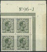 Danmark - AFA 100 postfrisk 4-blok med marginal nr. 96j