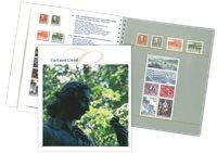 """Sverige - Bog """"Carl von Linné"""" med 14 frimærker"""