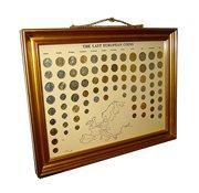 Monete pre-euro in cornice - 79 monete pre-euro in cornice