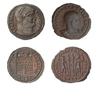 Rooman legioonan räjäyttäjä - Kaksi bronssisa kolikkoa