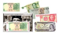 Famous personalities - 5 banknotes