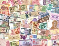 50 Banknotes from 34 Countries - 50 banknotes