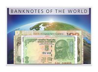 50 large Banknotes from 37 Countries - 50 banknotes