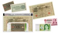 History of the German Currency - 5 banknotes