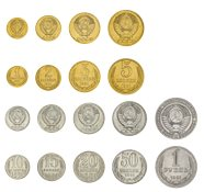 The last coin set of the USSR - 9 coins in blister card