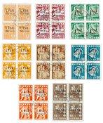 Litauen 1940 - Michel 449/456 - Stemplet